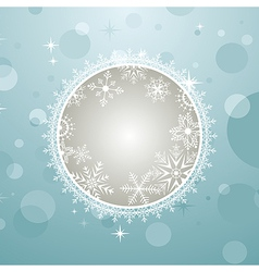 Christmas invitation with effect bokeh - vector