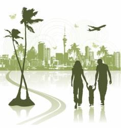 cityscape scene vector image vector image
