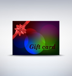 Colorful gift card with ribbon vector image vector image