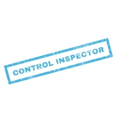Control inspector rubber stamp vector