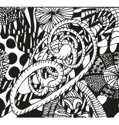 Doodling hand drawn patterns vector image vector image