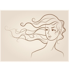 Female face Fashion vector image