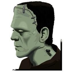 Frankenstein portrait vector