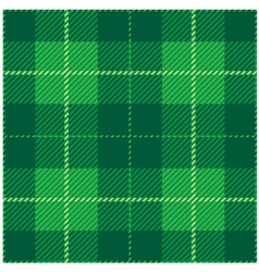 Green Tartan Plaid Design vector image