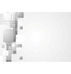 Grey geometry hi-tech background vector