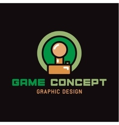 Joystick Game of the trend in flat vector image vector image