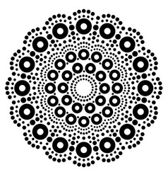 Mandala bohemian dot painting aboriginal vector