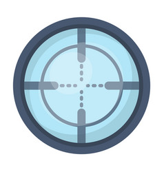 optical sightpaintball single icon in cartoon vector image