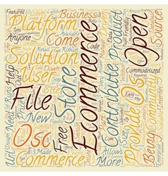 OS Commerce text background wordcloud concept vector image