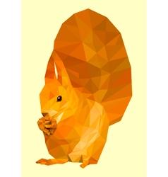 Polygonal squirrel vector