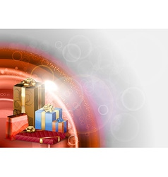 red abstract gifts vector image vector image