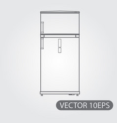 refrigerator black and white outline drawing vector image