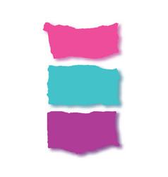 Rip papercolorful banner set vector