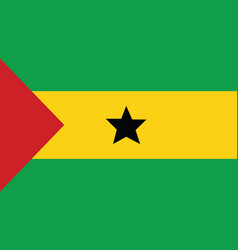 Sao tome and principe flag for independence day vector