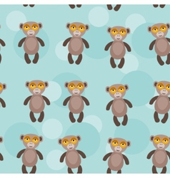 Seamless pattern with funny cute monkey animal on vector image vector image