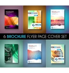 Set ofbrochure templates flyer designs or depliant vector