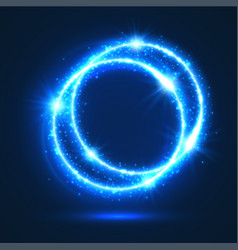sparkling rings of light flash circles vector image