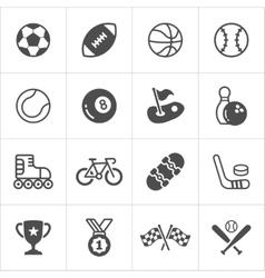 Sports trensy flat icons vector
