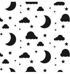starlight night seamless pattern vector image vector image