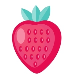 Strawberry icon flat design Isolated on white vector image