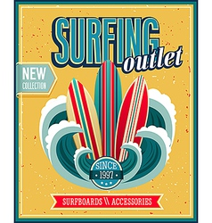 Surfing 2 vector image