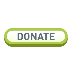 Donate button icon vector image