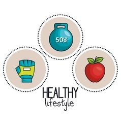 sport concept gym healthy lifestyle design vector image