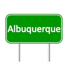 Albuquerque green road sign vector