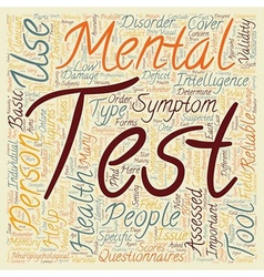 Mental health test 1 text background wordcloud vector