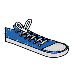 Young shoes style icon vector