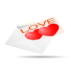 Greeting card for Valentines Day in an envelope vector image