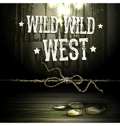 Wild west party design vector