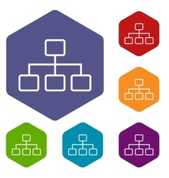 Structure rhombus icons vector