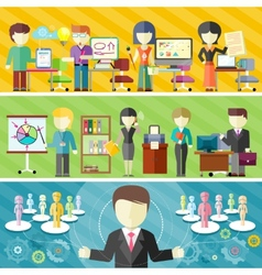 Dynamic business team vector image