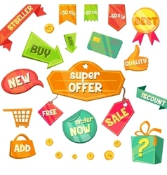 Emblem sale discount super offer vector