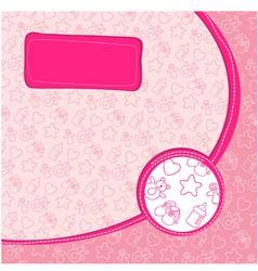 pattern baby girl vector image