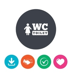 Wc women toilet sign icon restroom symbol vector