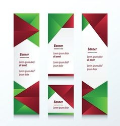 Set of abstract banner christmas styles vector