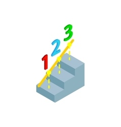 Steps to success icon isometric 3d style vector