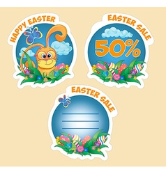 Set sticker with rabbit vector