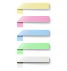 Oblong sticky notes isolated on white background vector
