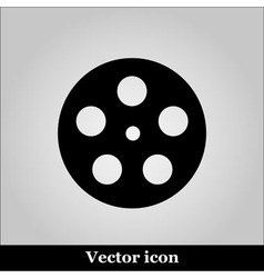 Movie icon on grey background vector