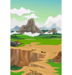 Beauty mountain with landscape background vector