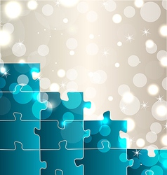 Abstract background with set puzzle pieces vector image vector image