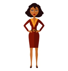 African american worried woman character vector