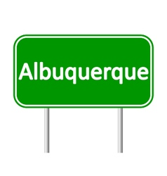 Albuquerque green road sign vector