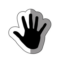 Black hand icon image vector