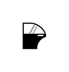 Car door icon vector