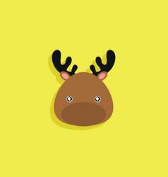 Cartoon deer face vector