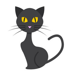 Cat flat icon halloween and scary animal sign vector